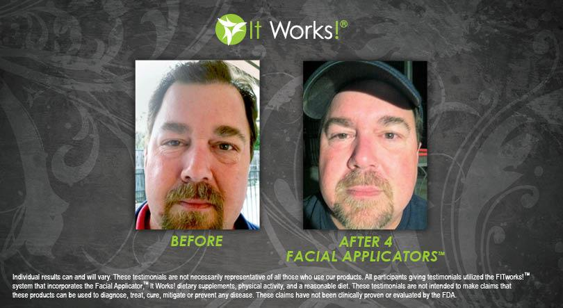 After four facial applicators.